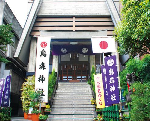 東京都新橋 烏森神社の外観