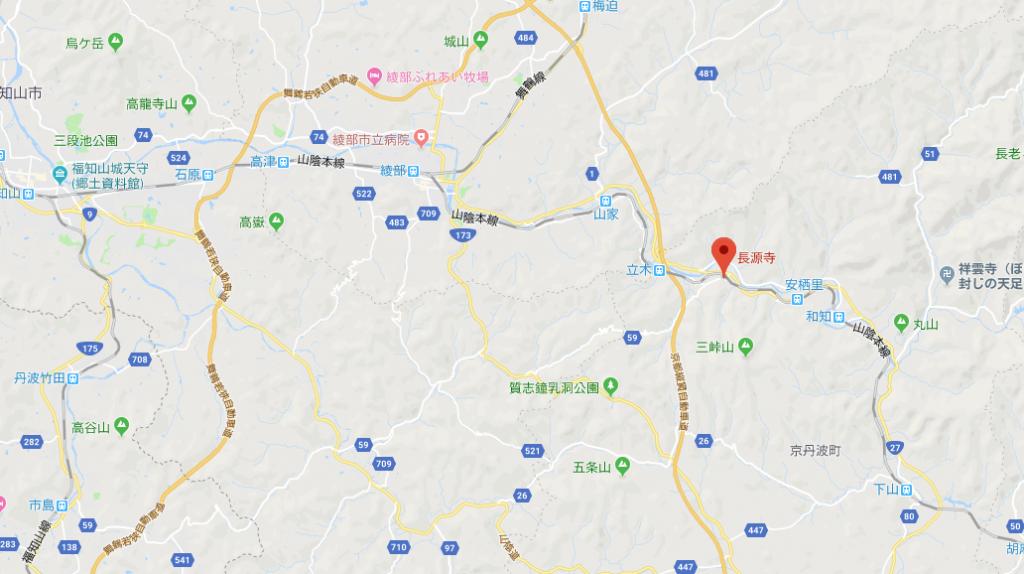 京都府船井郡京丹波町 長源寺の地図