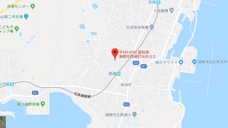 愛知県蒲郡市無量寺の地図