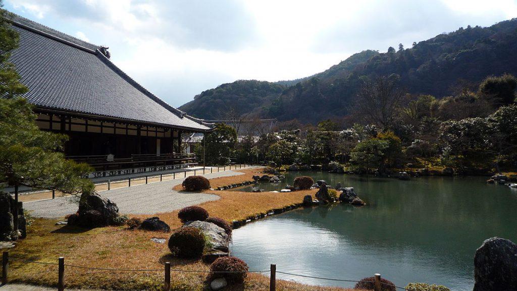 京都府京都市の天龍寺の景色