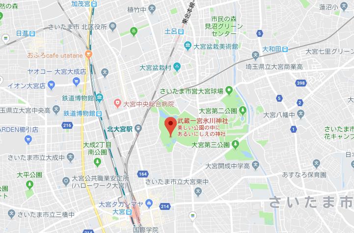 さいたま市大宮氷川神社の地図