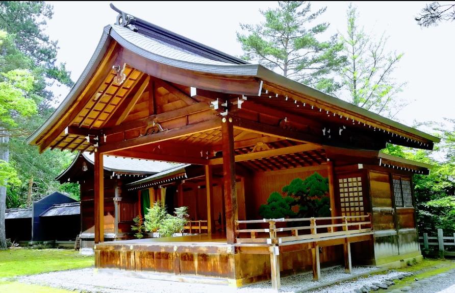 旭川市上川神社の能舞台(神楽殿)