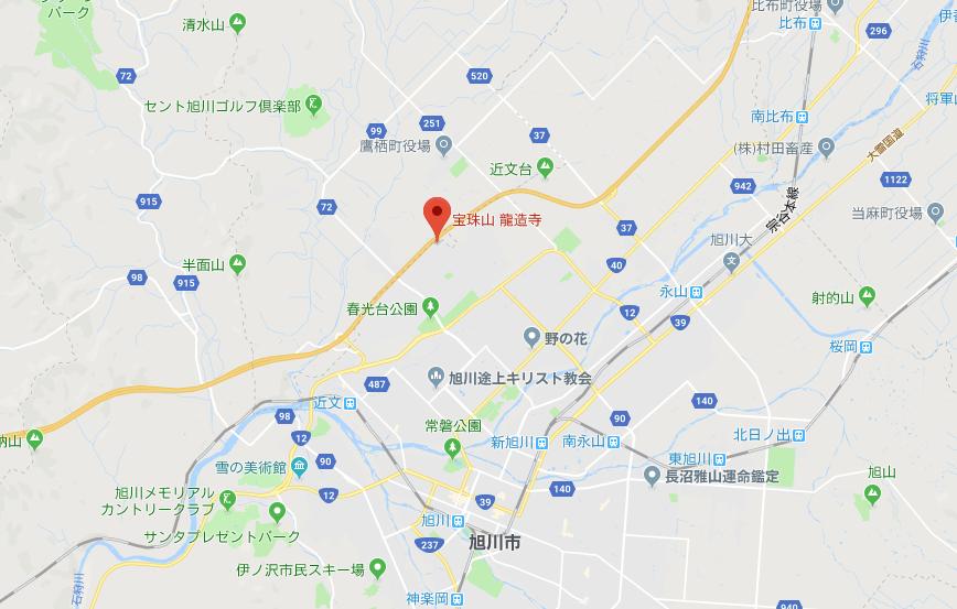 北海道旭川市春光台龍造寺の地図