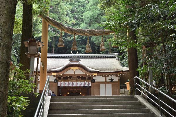 三輪山に通じる道がある狭井神社