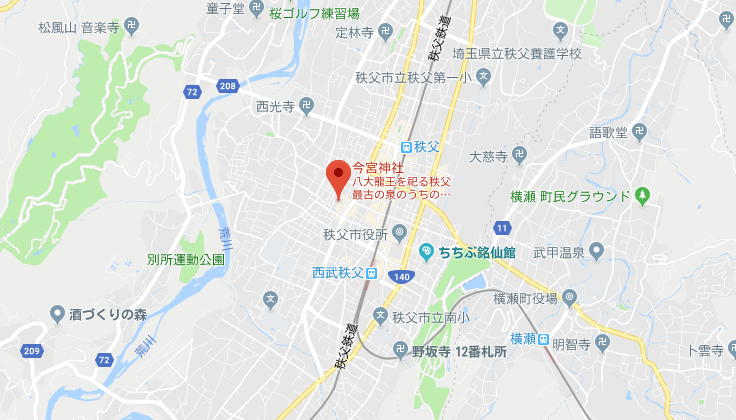埼玉県秩父市秩父今宮神社の地図