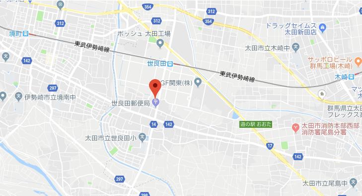 群馬県太田市世良田八坂神社地図
