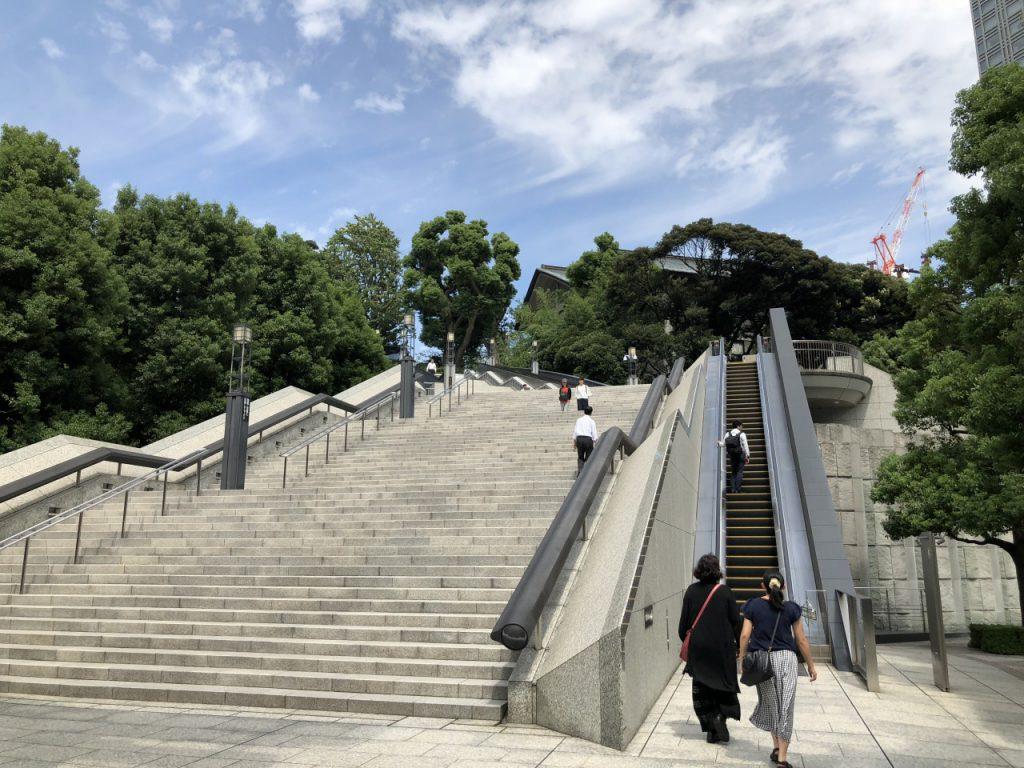 日枝神社のエスカレーター