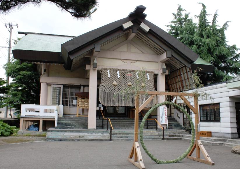 青森県青森市 廣田神社の社殿