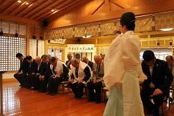 駒形神社の祈祷風景