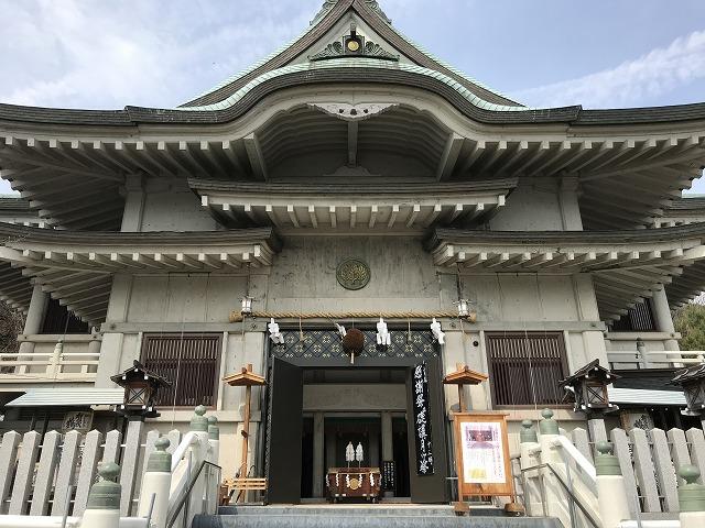 広島市西区 三輪明神広島分祀の拝殿