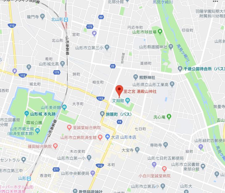里之宮 湯殿山神社の地図