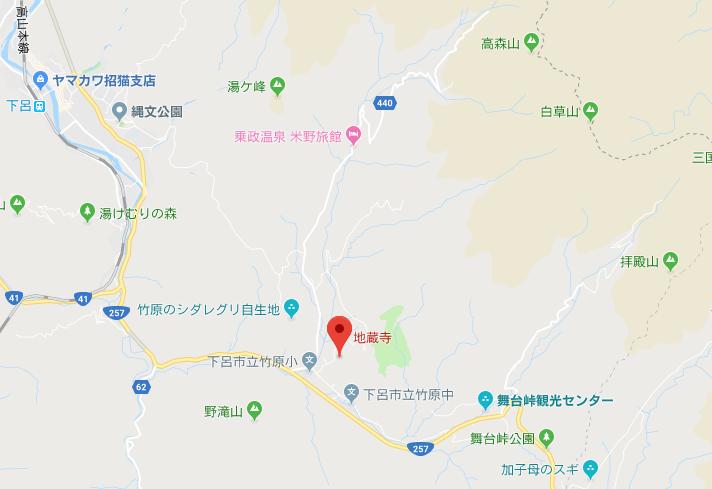 金錫山地蔵寺の地図