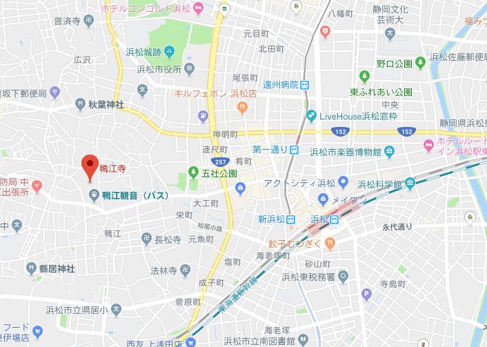 静岡県浜松市 鴨江寺の地図