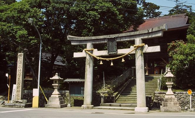 石川県加賀市 菅生石部神社の鳥居