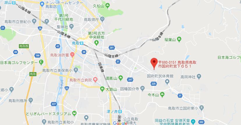 鳥取県鳥取市 宇倍神社の地図