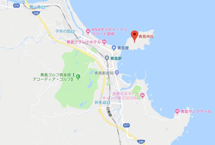 宮崎県宮崎市 青島神社の地図
