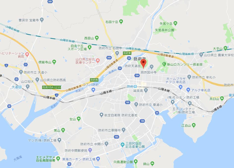 防府天満宮の地図