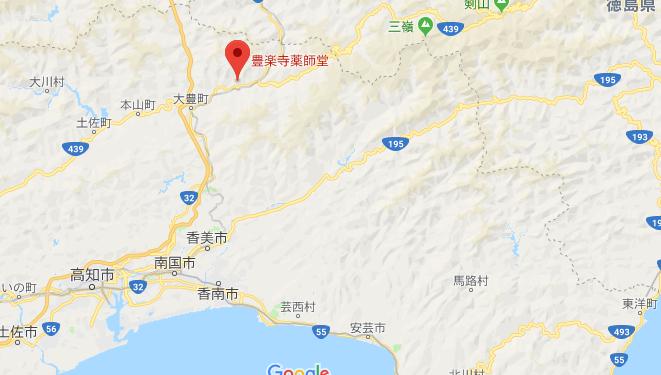 高知県長岡郡 豊楽寺の地図