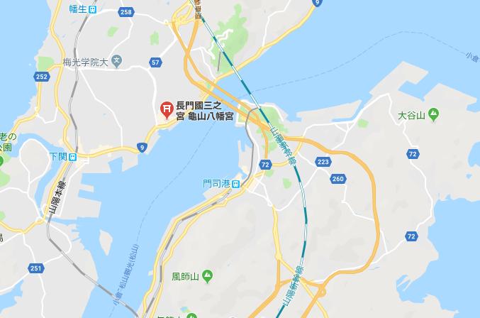 亀山八幡宮の地図