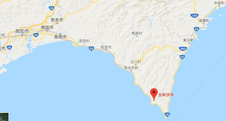 高知県金剛頂寺の地図