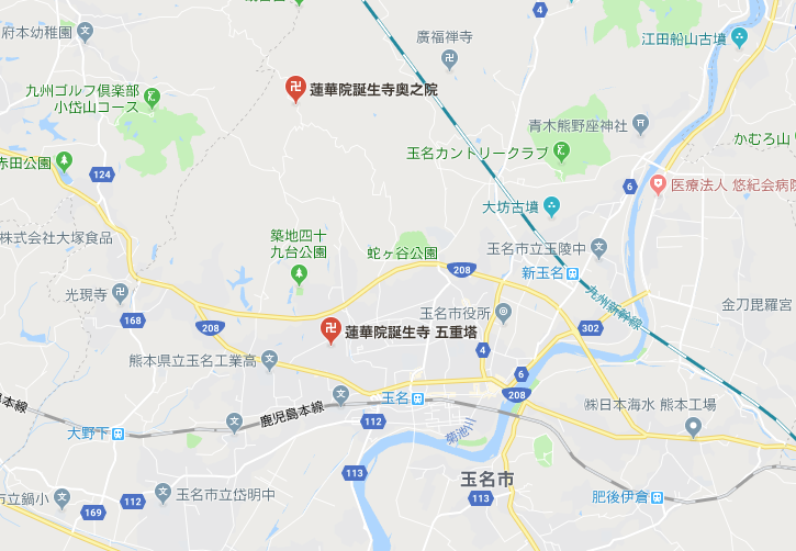 蓮華院誕生寺の地図